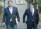 Puigdemont y Junqueras se reparten la oficina para la secesión