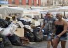 Málaga acumula más de 1.200 toneladas de basura por la huelga