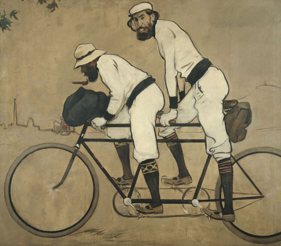 'Ramon Casas y Pere Romeu en un tándem', obra que conserva el MNAC.
