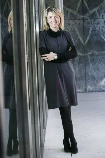 Giovanna Carnevali en el pabellón Mies en 2013.