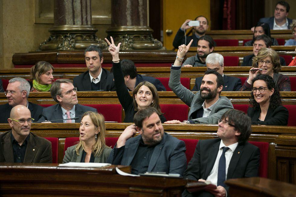 El pleno del miércoles del Parlament.