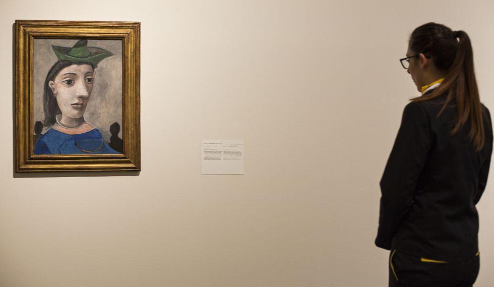 'Mujer con sombrero verde', de Picasso (1939), una de las seis obras del malagueño con que cuenta la Phillips Collection.