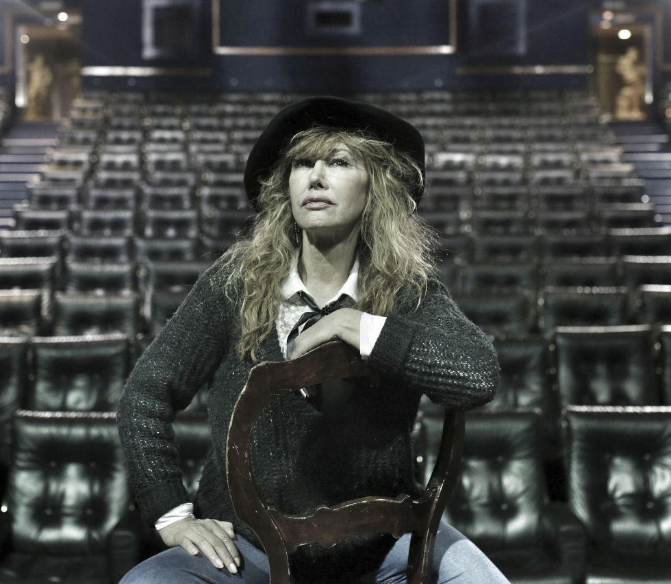 Victoria Vera en el Teatro Fernán Gómez, donde interpreta 'Salomé'.