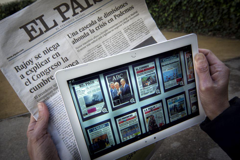 Periódico impreso o digital, dos formatos de acceder a la información.