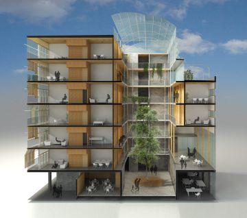 Barcelona construirá pisos sociales de madera
