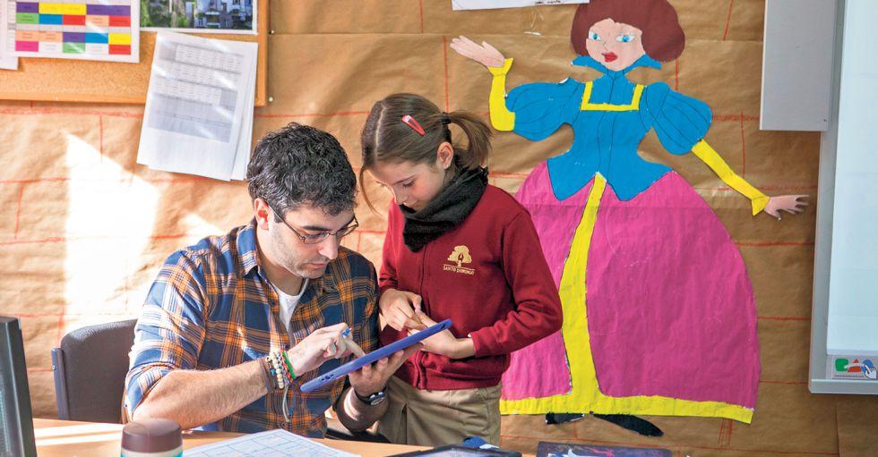 La tecnología está presente en el colegio Santo Domingo, de Algete.