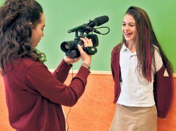 Alumnas del colegio público Santo Domingo de Algete.
