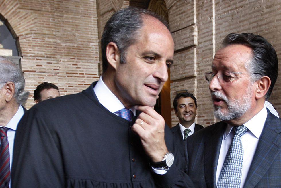 Camps y Grau cuando eran presidente de la Generalitat y vicealcalde de Valencia.
