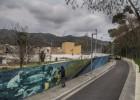 Un 'graffiti' de 100 metros en memoria del Rec Comtal