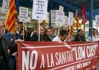 Seguimiento parcial de la huelga de médicos en el hospital de Palamós