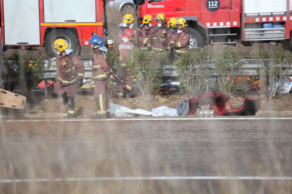 Accidente de autobus en Tarragona