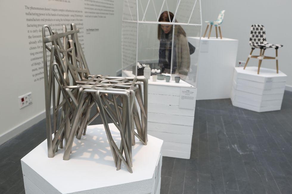 Algunos de los objetos en 3D de la exposición 'Futuro inmediato. Impresión 3D'.