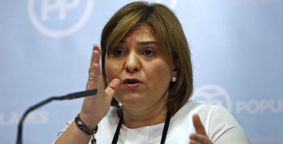 La presidenta de los populares valencianos, Isabel Bonig.