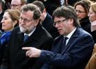 Rajoy y Puigdemont ceden el protagonismo a las víctimas