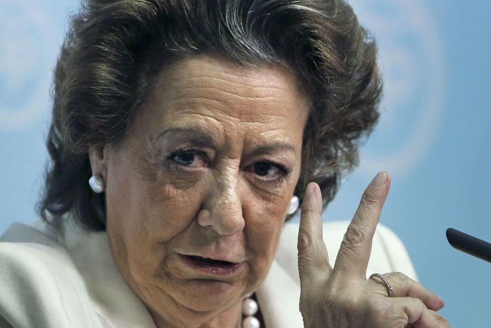 La senadora y exalcaldesa de Valencia Rita Barberá.