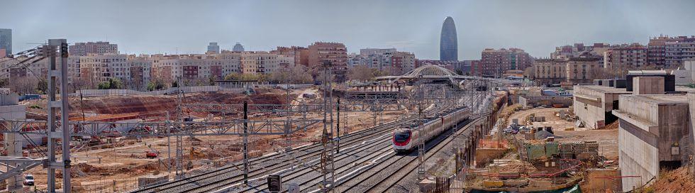 Vista del entorno de la futura estación del AVE de La Sagrera.