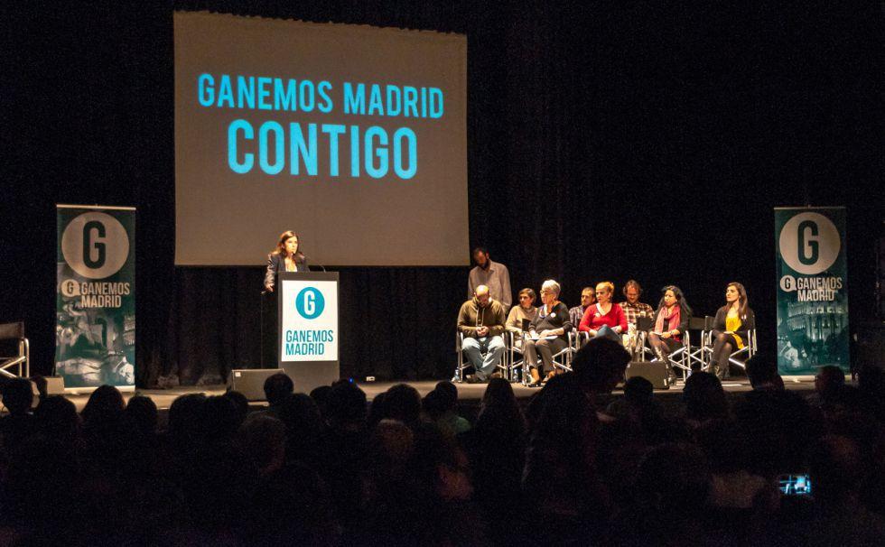 Presentación de Ganemos en noviembre en Madrid.