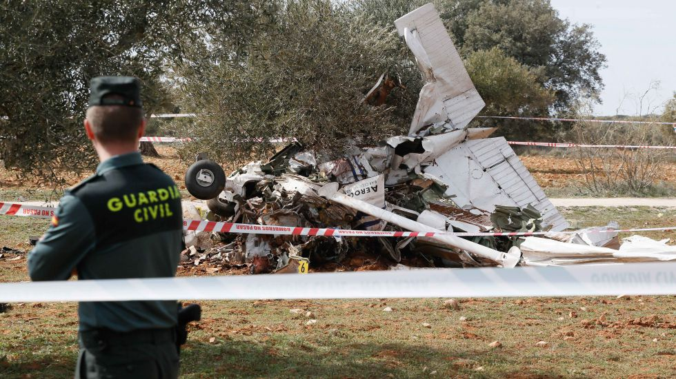Estado en la que ha quedado la avioneta tras el accidente