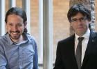 Iglesias garantiza a Puigdemont que no renunciará al referéndum