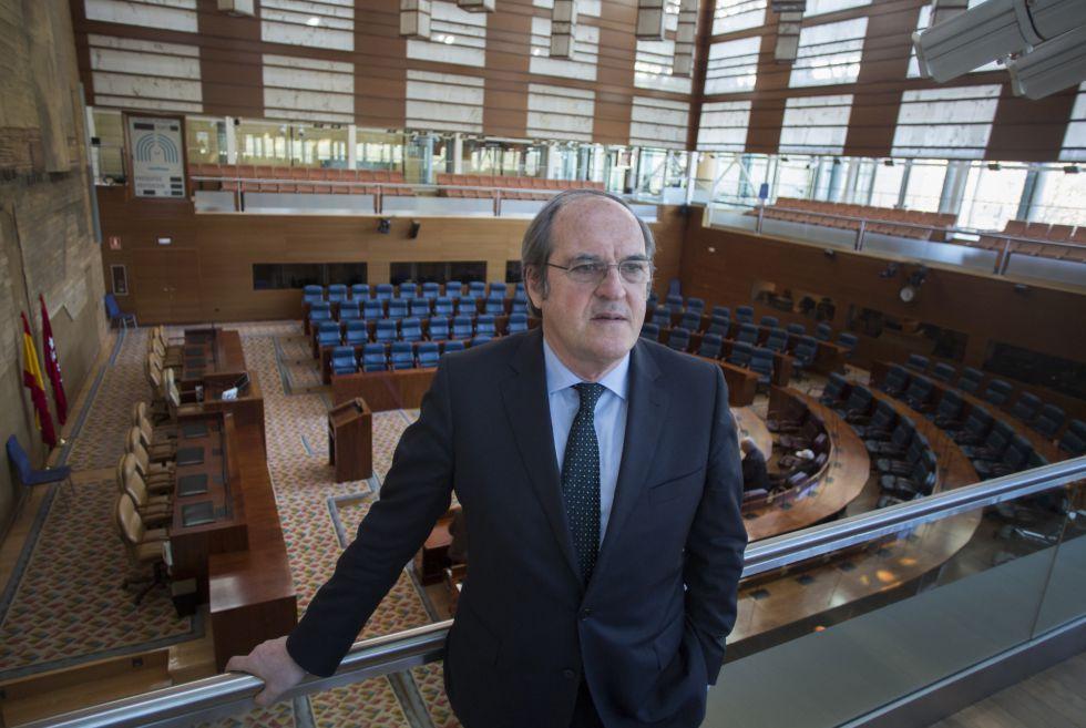 Entrevista a Angel Gabilondo, portavoz del grupo parlamentario socialista en la Asamblea de Madrid.
