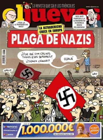 Portada de 'El Jueves' que critica a los neonazis