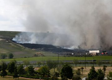 Blaze at tire dump outside Madrid was arson, say police