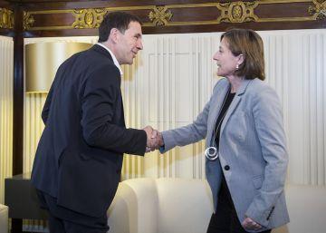 Otegi defiende para Euskadi un proceso similar al catalán