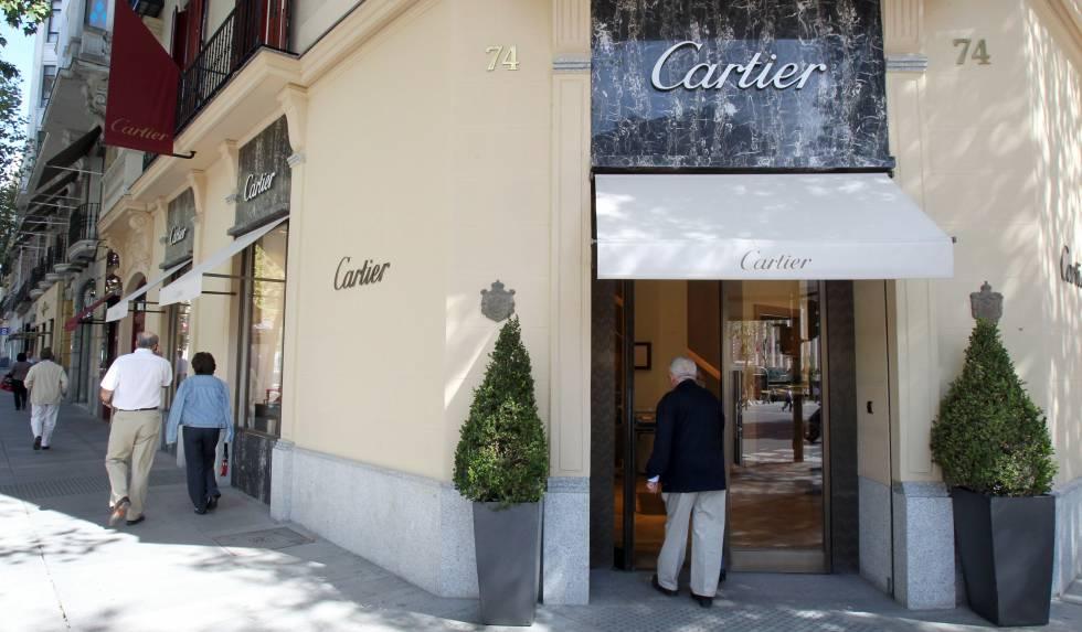 La joyería Cartier de la calle de Serrano.