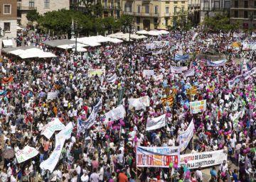 La escuela concertada sale a la calle contra la política de la Generalitat