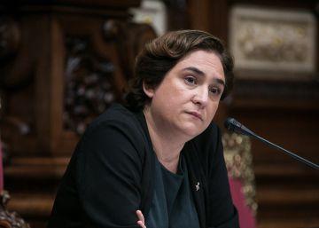 Intervencion de la alcaldesa Ada Colau durante el pleno.