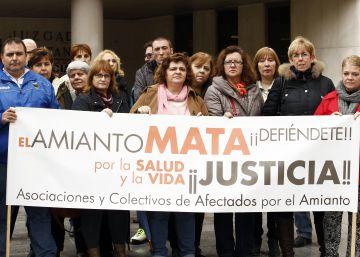 Familiares y víctimas del amianto en Madrid