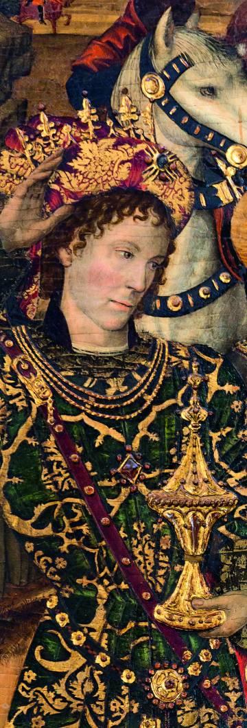 Pere IV representado como rey mago en el 'Retablo del Condestable'.