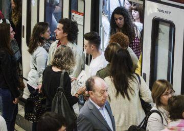 El metro de Barcelona durante la huelga.