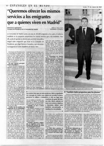 Entrevista a Francisco Granados en 'La Región Internacional'.