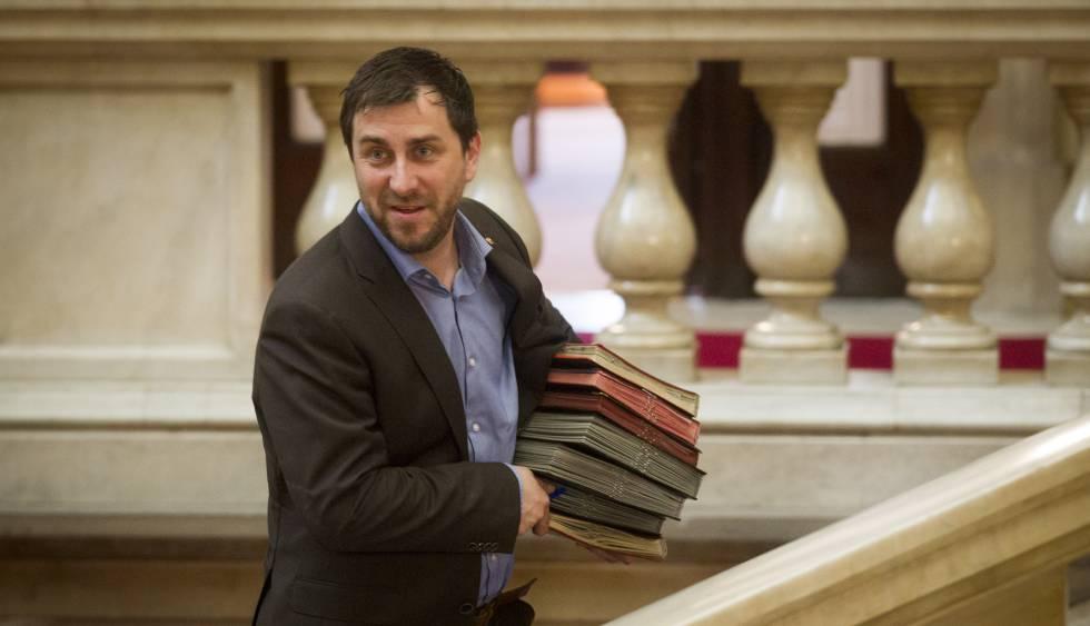El consejero de Salud, Toni Comín, en el Parlament
