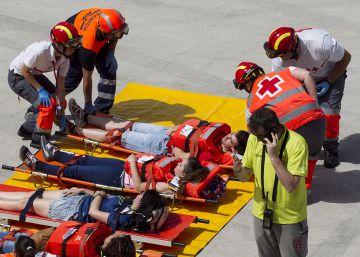Primer ensayo europeo de accidente aéreo con asistencia a víctimas