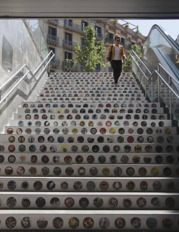 Proyecto expuesto en la parada de Rambla Catalunya.
