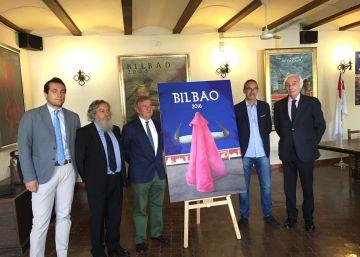 Tomás Ondarra firma el cartel de las Corridas Generales de Bilbao