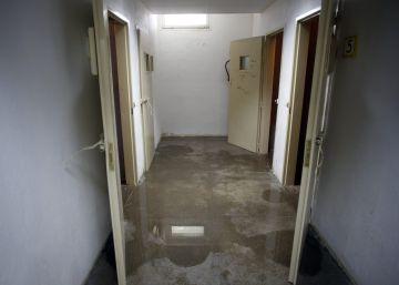 Los calabozos de los juzgados de Leganés, sin servicios y sin agua