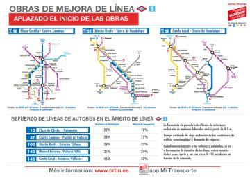 Tres líneas especiales y un carril-bus para evitar atascos por el cierre de Metro