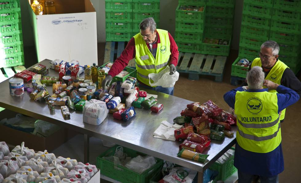Recogida de productos para el Banco de Alimentos en Colmenar Viejo, en 2015.