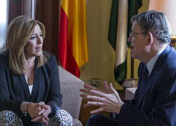 Díaz y Puig se unen en la defensa del corredor mediterráneo