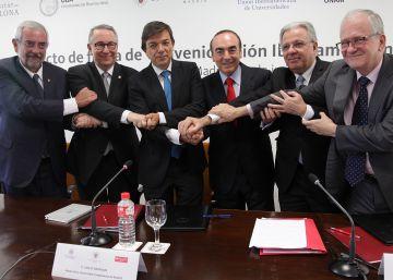 Acto de firma de convenio Unión Iberoamericana de Universidades.