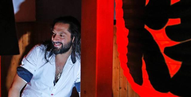 El bailaor Rafael Amargo, en el restaurante japonés Ninja Ramen.