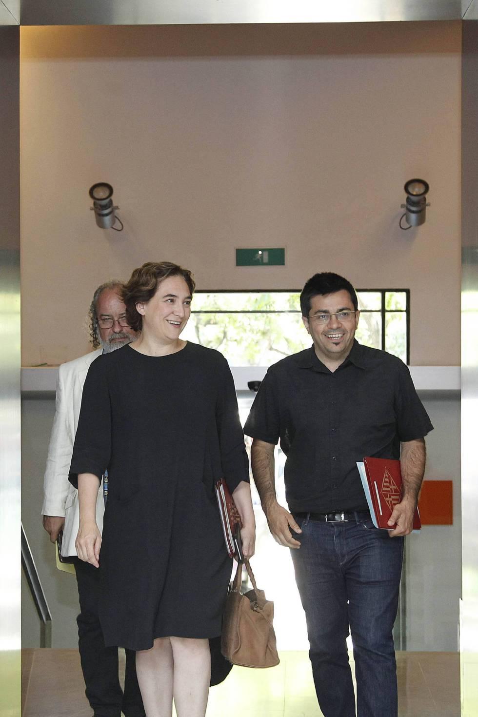 Ada Colau, y el primer teniente de alcalde, Gerardo Pisarello.