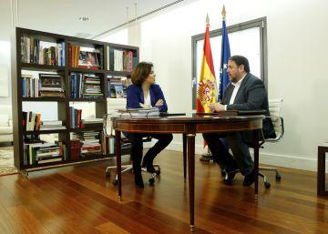 "Junqueras sobre su reunión en Moncloa: ""A efectos prácticos, nada de nada"""