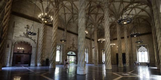 Sala de Contratación de la Lonja de la Seda de Valencia.