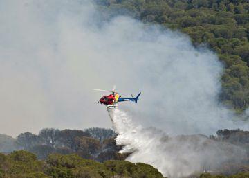 Los bomberos dan por controlado el incendio de Blanes