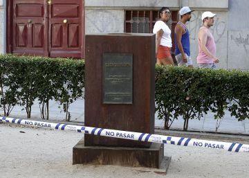 Robado el busto de Clara Campoamor en Malasaña