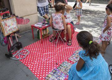 'Hacer el agosto' en las fiestas de Gràcia